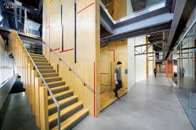 gensler adapts former gym for tableau software offices office