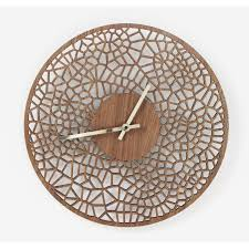 laser cut voronoi cell wall clock denvers designs