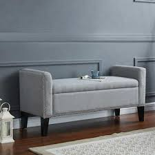Gray Storage Bench Ottomans U0026 Benches Costco