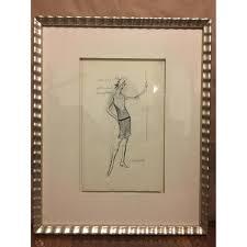custom framed vintage couture women u0027s fashion sketch aptdeco