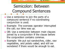 semicolon u0026 colon the whole thing semicolon between compound