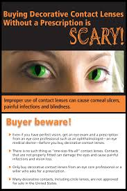 buying decorative contact lenses without a prescription is scary