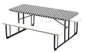 picnic table covers walmart picnic table covers creative converting plastic stay put banquet