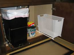 Under Cabinet Pull Out Trash Can Cabinet Under Kitchen Sink Garbage Can Pull Out Trash Can