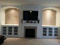 Arched Bookcase Custom Built In Bookcases With Arched Tops Fluted Column Fronts