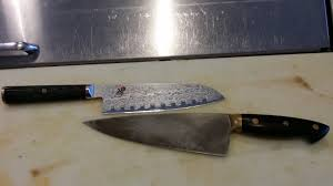 my kitchen knives my carbon kitchen knives is the patina on the bottom one ok need