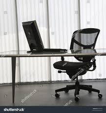 Laptop Desk Chair by Empty Office Desk Laptop Computer Chair Stock Photo 6557440
