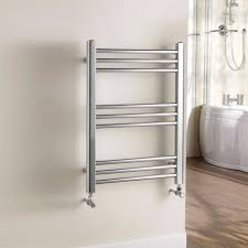B Q Bathroom Shelves Kudox Timeless Towel Warmer Silver Chrome H 700 W 500 Mm