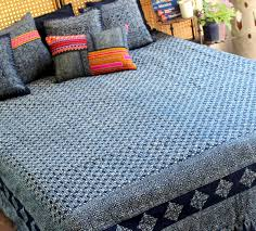 Cotton Queen Duvet Cover Queen Duvet Cover Natural Hmong Indigo Batik Cotton Siamese