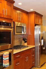 Unfinished Shaker Style Kitchen Cabinets Natural Cherry Wood Kitchen Cabinets Roselawnlutheran