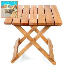 Outdoor Folding Side Table Side Table Patio Side Table Folding Outdoor Wood Folding Side