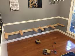 built in dining table kitchen table seems so boring after i saw what this guy built i m