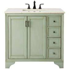 Black Distressed Bathroom Vanity Cottage Bathroom Vanities Bath The Home Depot