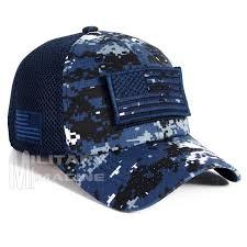 Usa Flag Hats Usa Flag Hat Navy Digital Patch Micro Mesh Tactical Operator