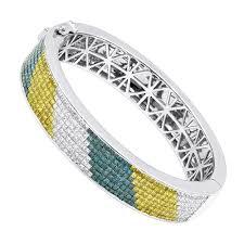 bracelet diamond yellow images Unique 14k gold white yellow blue diamond bangle bracelet for men jpg