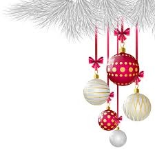 white with red xmas ball decor vector vector christmas vector