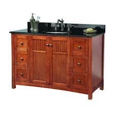 foremost knoxville 49 in w x 22 in d bath vanity in nutmeg with