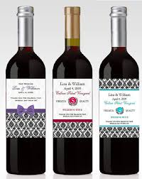 and understated these damask wine bottle labels would be