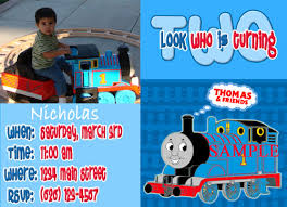 thomas and friends invitation card ideas thomas and friends