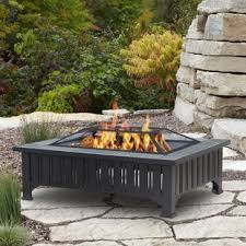 sit around grill table fire pit tables you ll love wayfair