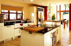 modern traditional kitchen traditional kitchen units round wooden dining table white granite