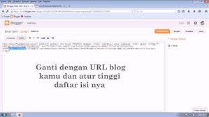 daftar isi cara membuat daftar isi otomatis di blog blogger entergeh youtube
