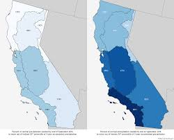 how deep of a precipitation hole is california in noaa climate gov