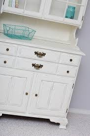 hutch makeover with chalk paint sew much ado