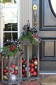 christmas porch decorations beautiful christmas lanterns this is such a great idea for a
