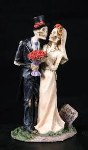 day of the dead cake toppers never dies skeleton wedding cake topper inspired day