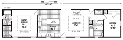 Floor Plans For Mobile Homes Single Wide Sawyer 16 X 72 1116 Sqft Mobile Home Factory Expo Home Centers