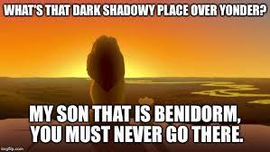 Lion King Shadowy Place Meme Generator - lion king son imgflip