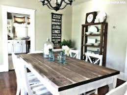 dark rustic dining table distressed wood kitchen table cozy white distressed kitchen table