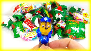 wrapping u0026 unwrapping toys pj masks paw patrol christmas gifts