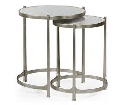 nest of mirrored tables silver swanky interiors