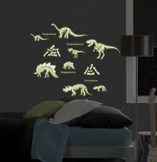 boys decor ideas poptalk glow in the dark dinosaurs stickers for the wall by wallpops