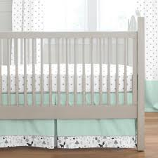 mint and gray baby woodland crib bedding carousel designs
