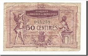 chambre de commerce de bergerac 50 centimes 1920 banknote pirot 24 35 bergerac vf 20 25