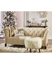 Macys Tufted Sofa by Arielle Tufted Fabric Sofa Created For Macy U0027s Furniture Macy U0027s
