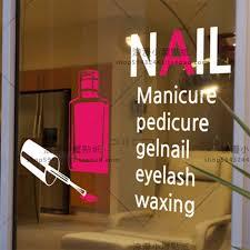 nail salon sticker spa decal posters vinyl wall art decals