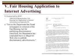 fair housing and internet advertising
