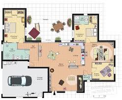 plan maison 2 chambres plain pied maison de plain pied 2 dé du plan de maison de plain pied 2