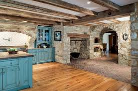 primitive colonial inspired kitchen old house restoration