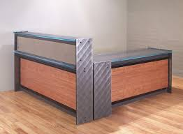 L Shape Reception Desk Steel And Glass Reception Desk Custom Reception Desks