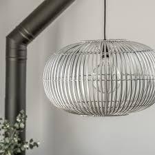 Bamboo Ceiling Light Bamboo Pendant Light Shade Grey Silver