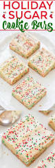 holiday sugar cookie bars with cream cheese frosting sugar