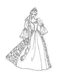 barbie princess coloring pages free images clker vector