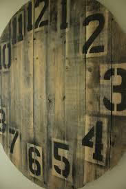 Free Simple Wood Clock Plans by Pallet Wood Clock Diy Youtube