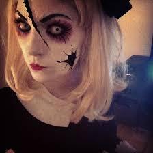 makeup looks halloween get a creepy look with halloween doll makeup entertainmentmesh