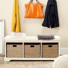 storage benches white for less overstock com